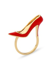 Fashion Gold Color High-heeled Shoes Shape Design Ring