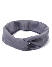 Fashion Gray Pure Color Decorated Simple Hair Band