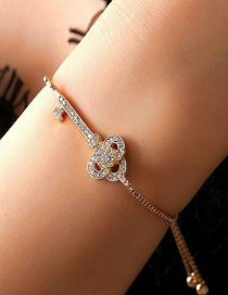 Fashion Gold Color Key Shape Design Bracelet