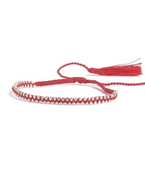 Bohemia Red Tassel Decorated Pure Color Bracelet