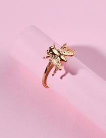 Fashion Gold Color Bee Shape Decorated Opening Ring