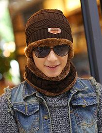 Fashion Brown Stripe Pattern Decorated Hat