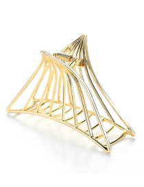 Fashion Gold Color Triangle Shape Decorated Hair Clip