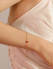 Fashion Gold Color Heart Shape Decorated Bracelet