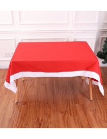Fashion Red Pure Color Decorated Tablecloth