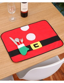 Fashion Red Belt Buckle Pattern Decorated Placemat