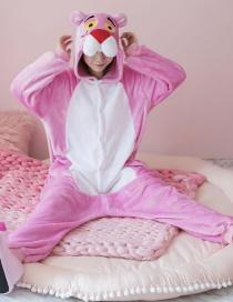 Fashion Pink Leopard Shape Decorated Pajamas