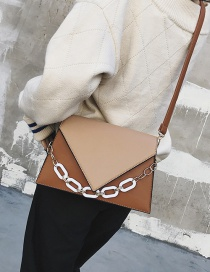 Fashion Khaki Pure Color Decorated Bag