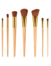 Fashion Orange Flat Shape Decorated Makeup Brush(7pcs)