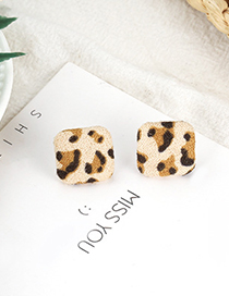Fashion Light Coffee Square Shape Decorated Earrings