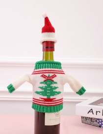 Fashion Multi-color Christmas Tree Pattern Decorated Bottle Cover