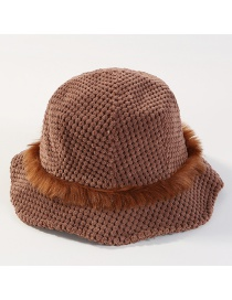 Fashion Coffee Pure Color Design Knitted Fisherman Hat