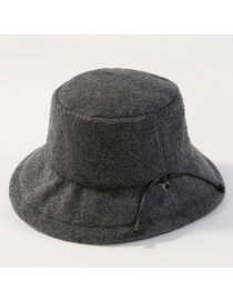 Fashion Gray Pure Color Design Thicken Tethered Hat