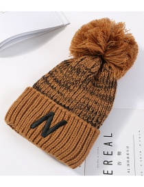 Fashion Brown Letter N Pattern Decorated Thicken Hat