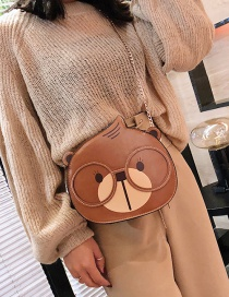 Fashion Brown Cartoon Squirrel Pattern Design Shoulder Bag