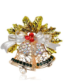 Fashion Gold Color Bell Shape Decorated Brooch