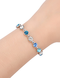 Fashion Blue Diamond Decorated Bracelet