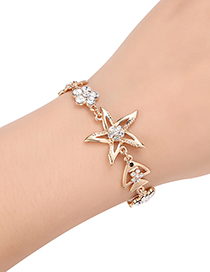 Fashion Gold Color Diamond Decorated Bracelet