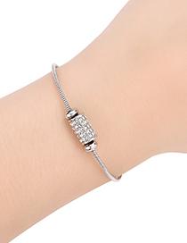 Fashion Silver Color Diamond Decorated Bracelet