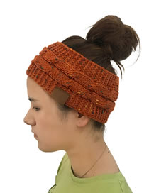 Fashion Dark Orange Letter Pattern Decorated Hat