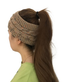Fashion Khaki Color Matching Decorated Hat