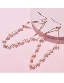 Fashion White Bead Decorated Earrings