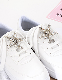 Fashion White Star Shape Decorated Shoes Accessories