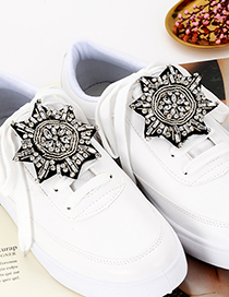 Fashion White Bead&diamond Decorated Shoes Accessories