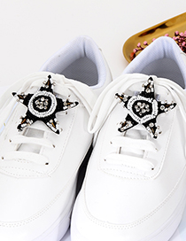 Fashion Black Star Shape Decorated Shoes Accessories