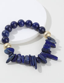 Fashion Sapphire Blue Bead Decorated Bracelet