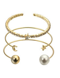 Fashion Gold Color Moon&star Shape Decorated Bracelet