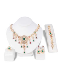 Fashion Multi-color Water Drop Shape Decorated Jewelry Set