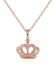 Fashion Gold Color Crown Shape Decorated Necklace