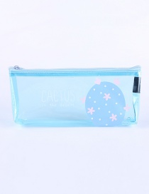 Fashion Blue Flowers Pattern Decorated Pencil Case
