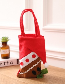 Fashion Red+brown Gingerbread Shape Design Handbag