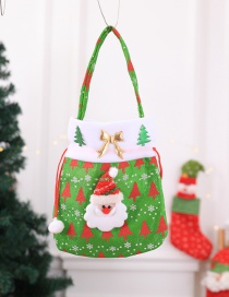 Fashion Green Christmas Tree Pattern Decorated Gift-bag