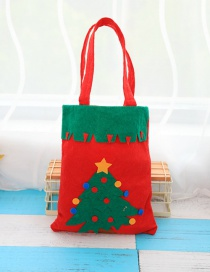 Fashion Green+red Christmas Tree Decorated Gift Bag