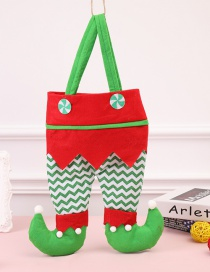 Fashion Red+green Wave Shape Design Wine Bottle Bag