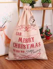 Fashion Beige+red Letter Pattern Decorated Gift Bag