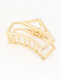 Elegant Gold Color Irregular Shape Design Pure Color Hair Claw