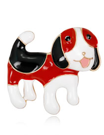 Fashion Multi-color Dog Shape Decorated Brooch