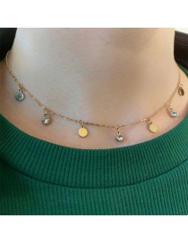 Collar De Rodajas Y Diamantes