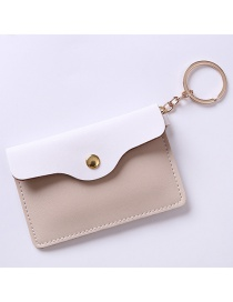 Fashion White+khaki Color-matching Decorated Purse
