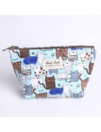 Fashion Multi-color Cat Pattern Decorated Storage Bag
