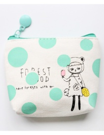 Fashion White Dots Pattern Decorated Coin Purse