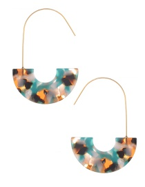 Fashion Mullti-color U Shape Decorated Earrings