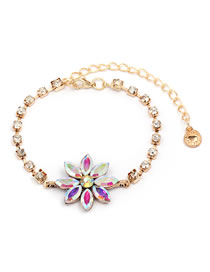 Fashion Multi-color Diamond Decorated Bracelet