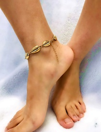 Fashion Gold Color Shell Shape Decorated Anklet