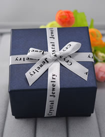 Fashion Navy Bowknot Shape Decorated Jewelry Box