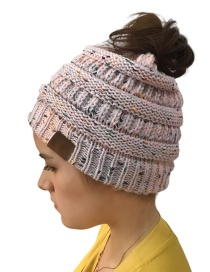 Fashion Pink Dots Pattern Design Knitted Hat